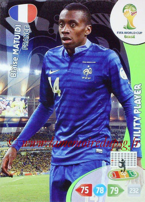 2014 - Panini FIFA World Cup Brazil Adrenalyn XL - N° 164 - Blaise MATUIDI (France)