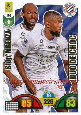 2018-19 - Panini Adrenalyn XL Ligue 1 - N° 198 - Giovanni SIO + Isaac MBENZA (Montpellier) (Duo de Choc)