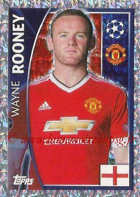 2015-16 - Topps UEFA Champions League Stickers - N° 114 - Wayne ROONEY(Manchester United FC)