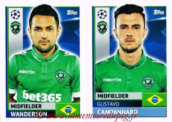2016-17 - Topps UEFA Champions League Stickers - N° QFF 11-12 - Gustavo CAMPANHARO + WANDERSON (PFC Ludogoretz Razgrad)