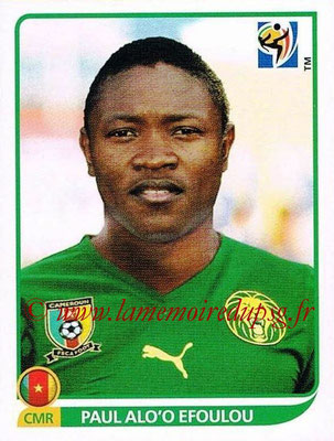 2010 - Panini FIFA World Cup South Africa Stickers - N° 407 - Paul ALO'O EFOUOU (Cameroun)
