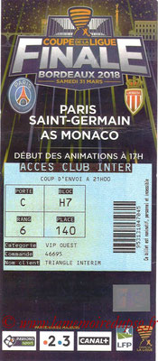 Ticket  PSG-Monaco  2017-18
