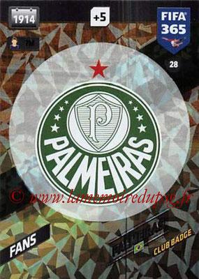 2017-18 - Panini FIFA 365 Cards - N° 028 - Logo Palmeiras (Club Badge)