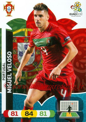 Panini Euro 2012 Cards Adrenalyn XL - N° 172 - Miguel VELOSO (Portugal)