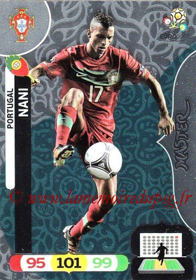 Panini Euro 2012 Cards Adrenalyn XL - N° 295 - NANI (Portugal) (Master)