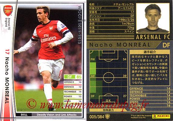 2012-13 - WCCF - N° 005 - Nacho MONREAL (Arsenal FC)