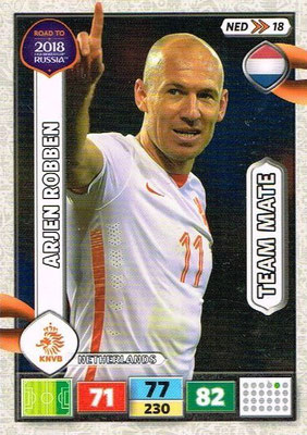 2018 - Panini Road to FIFA World Cup Russia Adrenalyn XL - N° NED18 - Arjen ROBBEN (Pays-Bas)