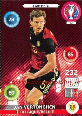 Panini Euro 2016 Cards - N° 032 - Jan VERTONGHEN (Belgique)