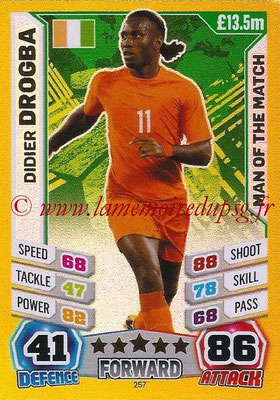 Topps Match Attax England 2014 - N° 257 - Didier DROGBA (Irlande) (Man Of The Match)