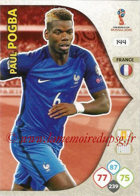 2018 - Panini FIFA World Cup Russia Adrenalyn XL - N° 144 - Paul POGBA (France)