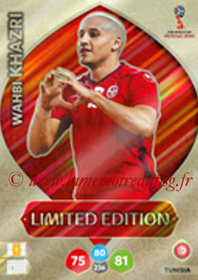 2018 - Panini FIFA World Cup Russia Adrenalyn XL - N° LE-WK - Wahbi KHAZRI (Tunisie) (Limited Edition)