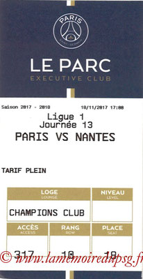 Tickets  PSG-Nantes  2017-18