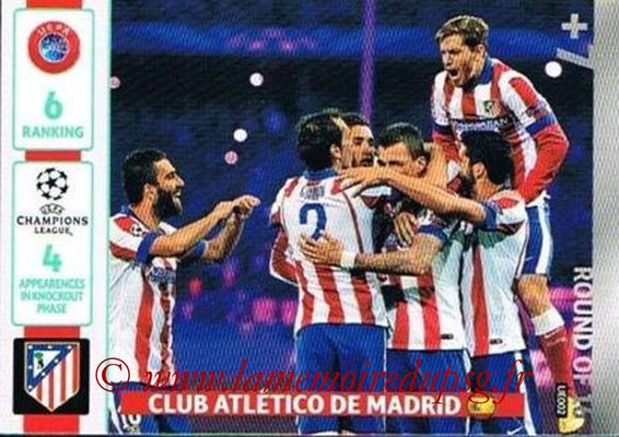 2014-15 - Adrenalyn XL champions League Update edition N° UE002 - Atletico Madrid (Round of 16)