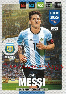 2016-17 - Panini Adrenalyn XL FIFA 365 - N° 324 - Lionel MESSI (Argentine) (International Star)