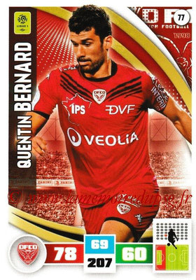 2016-17 - Panini Adrenalyn XL Ligue 1 - N° 077 - Quentin BERNARD (Dijon)