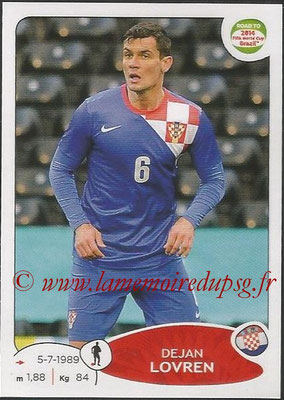 2014 - Panini Road to FIFA World Cup Brazil Stickers - N° 287 - Dejan LOVREN (Croatie)