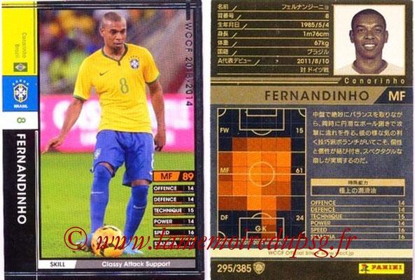 2013-14 - WCCF - N° 295 - FERNANDINHO (Brésil)