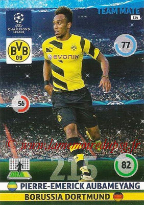 2014-15 - Adrenalyn XL champions League N° 114 - Pierre-Emerick AUBAMEYANG (Borussia Dortmund)