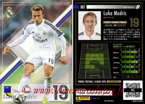 Panini Football League 2015 - PFL09P - N° 005 - Luka MODRIC (Real Madrid) (Star +)