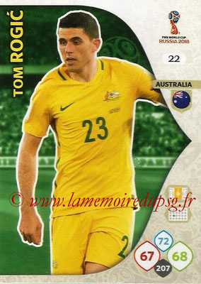 2018 - Panini FIFA World Cup Russia Adrenalyn XL - N° 022 - Tom ROGIC (Australie)