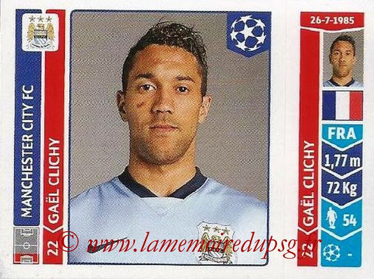 2014-15 - Panini Champions League N° 367 - Gael CLICHY (Manchester City FC)