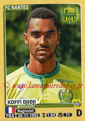 2015-16 - Panini Ligue 1 Stickers - N° 292 - Koffi DJIDJI (FC Nantes)