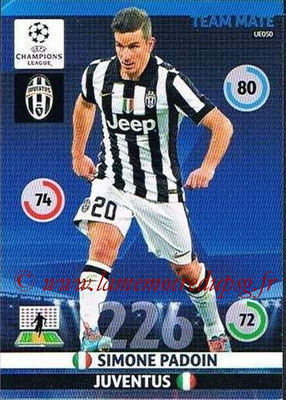 2014-15 - Adrenalyn XL champions League Update edition N° UE050 - Simone PADOIN (Juventus FC)