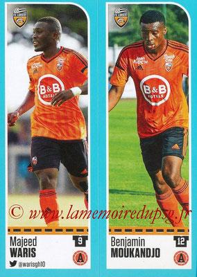 2016-17 - Panini Ligue 1 Stickers - N° 312 + 313 - Majeed WARIS + Benjamin MOUKANDJO (Lorient)