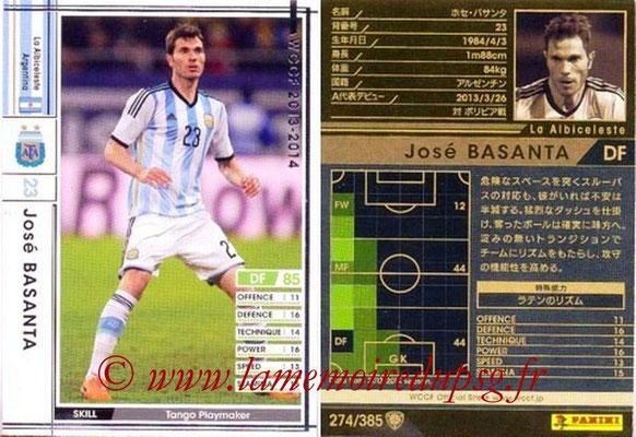 2013-14 - WCCF - N° 274 - José BASANTA (Argentine)