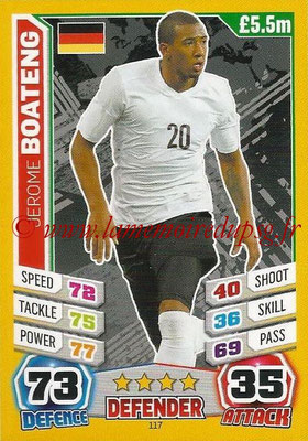 Topps Match Attax England 2014 - N° 117 - Jerome BOATENG (Allemagne)