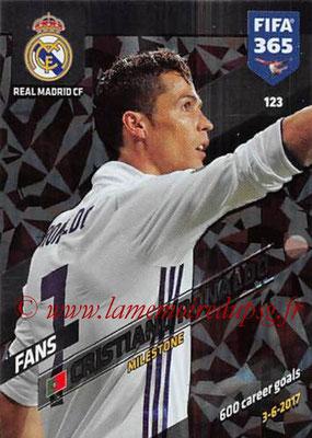 2017-18 - Panini FIFA 365 Cards - N° 123 - Cristiano RONALDO (Real Madrid CF) (Milestone)
