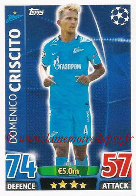 2015-16 - Topps UEFA Champions League Match Attax - N° 255 - Domenico CRISCITO (FC Zenit)