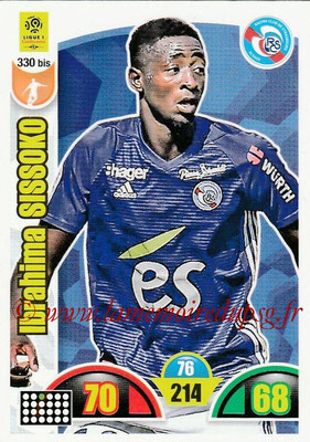 2018-19 - Panini Adrenalyn XL Ligue 1 - N° 330 bis - Ibrahima SISSOKO (Strasbourg)