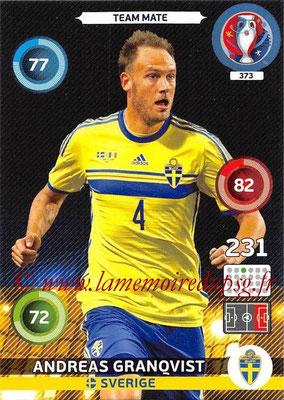 Panini Euro 2016 Cards - N° 373 - Andreas GRANQVIST (Suède)