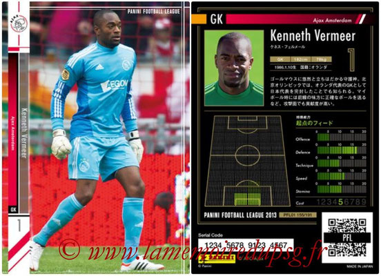 Panini Football League 2013 - PFL01 - N° 155 - Kenneth Vermeer ( Ajax Amsterdam )