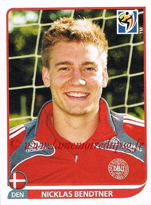 2010 - Panini FIFA World Cup South Africa Stickers - N° 370 - Nicklas BENDTNER (Danemark)