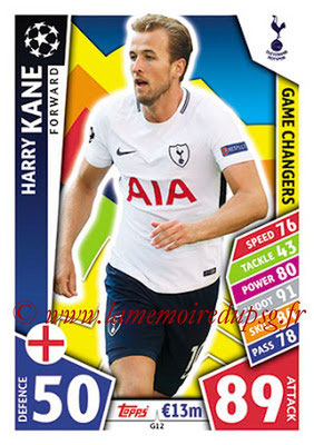 2017-18 - Topps UEFA Champions League Match Attax - N° GC12 - Harry KANE (Tottenham Hotspur) (Game Changers)