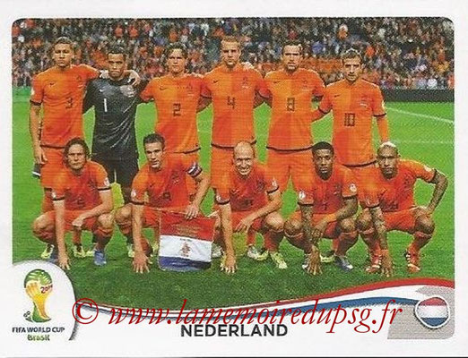 2014 - Panini FIFA World Cup Brazil Stickers - N° 128 - Equipe Pays-Bas