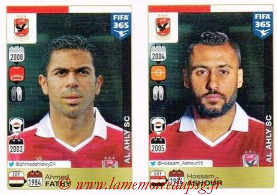 2015-16 - Panini FIFA 365 Stickers - N° 290-291 - Ahmed FATHY + Hossam ASHOUR (Al Ahly SC)