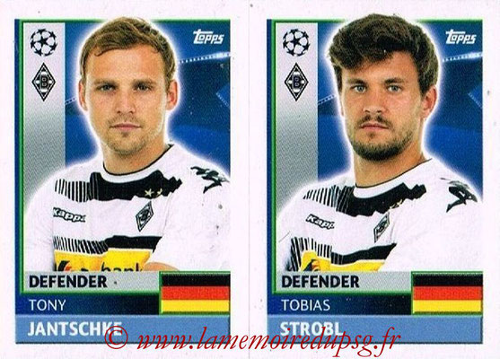 2016-17 - Topps UEFA Champions League Stickers - N° QFA 7-8 - Tobias STROBL + Tony JANTSCHKE (VFL Borussia Mönchengladbach)