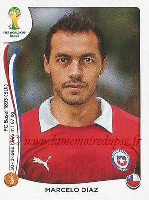 2014 - Panini FIFA World Cup Brazil Stickers - N° 158 - Marcelo DIAZ (Chili)