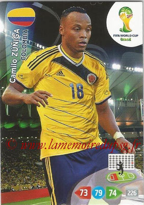 2014 - Panini FIFA World Cup Brazil Adrenalyn XL - N° 079 - Camilo ZUNIGA (Colombie)