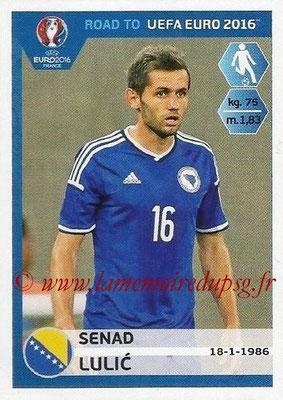 Panini Road to Euro 2016 Stickers - N° 027 - Senad LULIC (Bosnie Herzégovine)