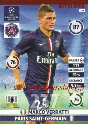 2014-15 - Adrenalyn XL champions League N° 320 - Marco VERRATTI (Paris Saint-Germain) (Key Player)