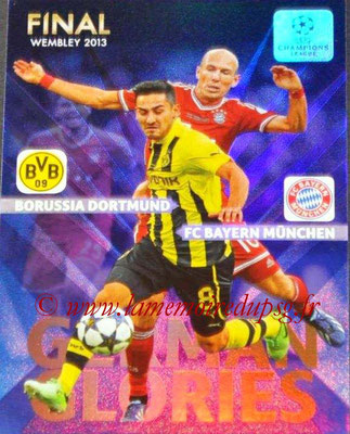 2013-14 - Adrenalyn XL champions League N° GG3 - Arjen ROBBEN + Ilkay GÜNDOGAN (Final Wembley 2013) (German Glories)