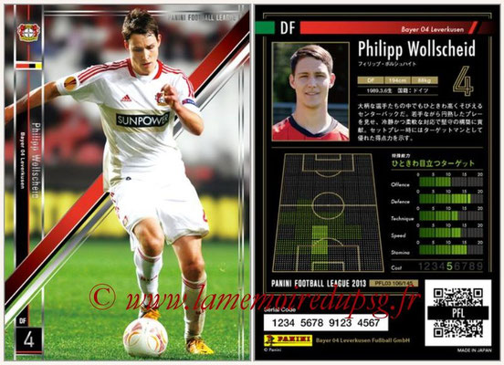 Panini Football League 2013 - PFL03 - N° 106 - Philipp Wollscheid (Bayer Leverkusen)