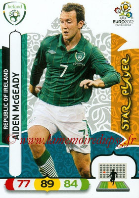 Panini Euro 2012 Cards Adrenalyn XL - N° 185 - Aiden McGEADY (Eire) (Star Player)