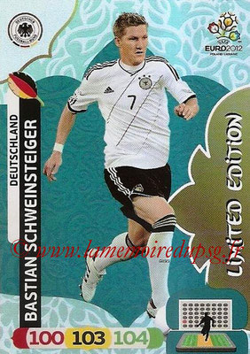Panini Euro 2012 Cards Adrenalyn XL - N° LE10 - Bastian SCHWEINSTEIGER (Allemagne) (Limited Edition)