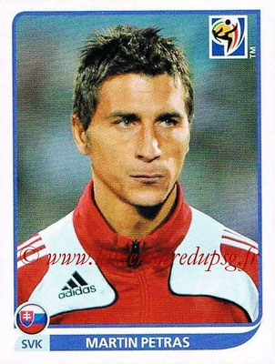 2010 - Panini FIFA World Cup South Africa Stickers - N° 475 - Martin PETRAS (Slovaquie)