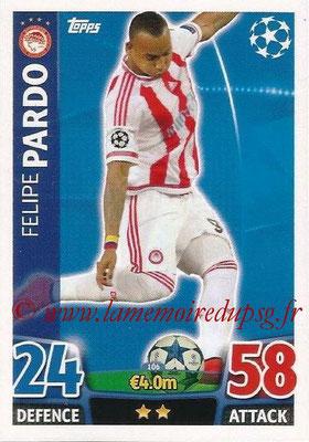 2015-16 - Topps UEFA Champions League Match Attax - N° 106 - Felipe PARDO (Olympiacos FC)